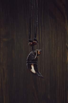 Кулон на шнурке Мудрость Черного воина Nothing But Love коричневый; бежевый; черный 201339