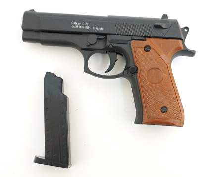 Страйкбольный пружинный пистолет Galaxy  Китай (кал. 6 мм) G.22 (мини Beretta 92)