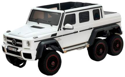 """Электромобиль """"MERCEDES-BENZ G63 AMG 6x6"""", 6WD полный привод, окраска белый, EVA Sima-Land"""