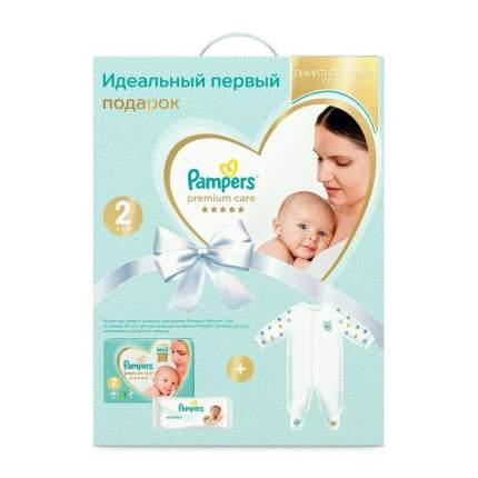 Подарочный набор Pampers Premium Care для новорожденных,Размер 2, 4-8кг,Детский Комбинезон