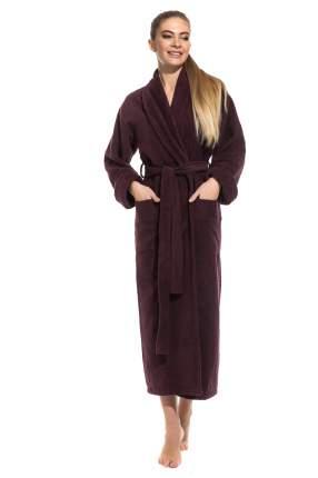 Женский удлиненный махровый халат Pure Comfort Peche Monnaie 740, сливовый, XL