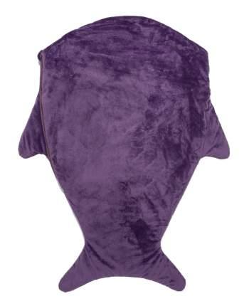 Одеяло-конверт Крошка Я Акула фиолетовое 48x83 см