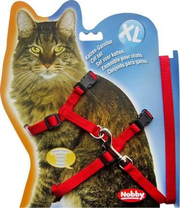 Шлейка для кошек NOBBY XL красная