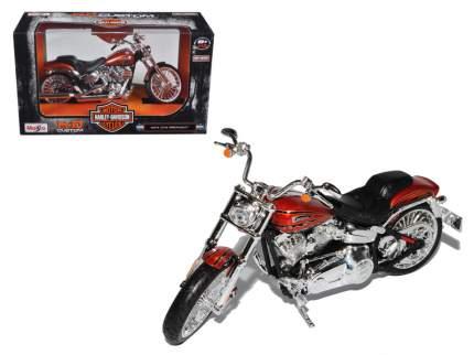 Maisto Мотоцикл черный/оранжевый - Harley Davidson CVO Breakout 2014г 1:12