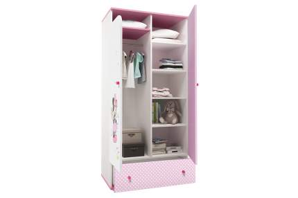 Детский шкаф двухсекционный Polini Kids Disney Baby «Минни Маус Фея» Белый/Розовый