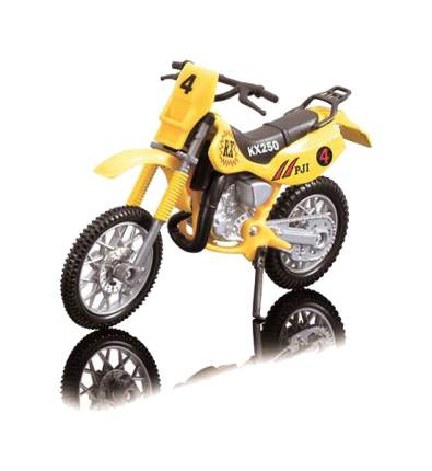 Игрушечный кроссовый мотоцикл, 12 см Dickie Toys