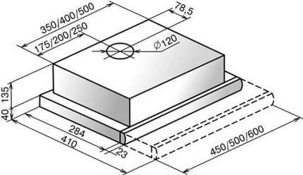 Вытяжка встраиваемая  Elikor Нейтрино 50П-400-В2Л White/Inox