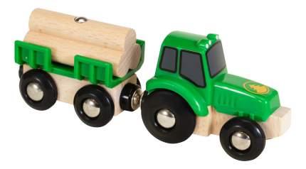 Трактор и прицеп с бревнами деревянной железной дороги Brio 33799