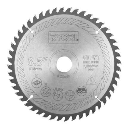 Пильный диск по дереву  Ryobi SB216T48A1 TCT BLDE 216MM 48T EMEA