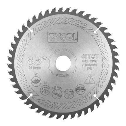Диск по дереву для дисковых пил Ryobi SB216T48A1 TCT BLDE 216MM 48T EMEA