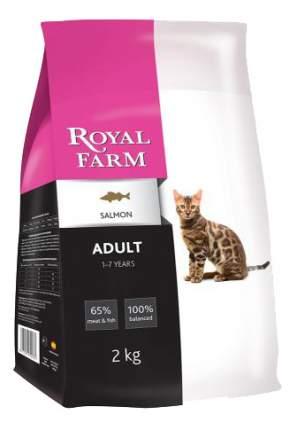 Сухой корм для кошек ROYAL FARM Adult, лосось, 2кг