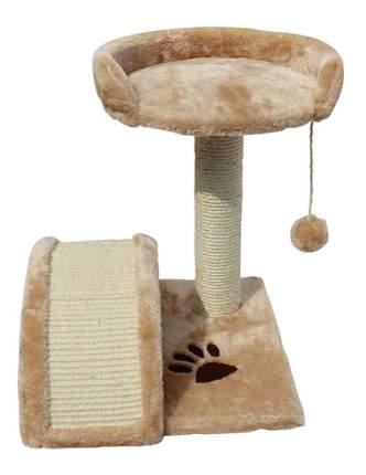 Комплекс для кошек MAJOR с лежанкой, игрушкой и дугой, бежевая, 45х35х35см