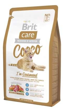 Сухой корм для кошек Brit Care Cocco Gourmand, для гурманов, утка, лосось, 7кг