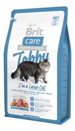 Сухой корм для кошек Brit Care Tobby, для крупных пород, утка, 7кг