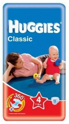 Подгузники Huggies Classic 4 (7-18 кг), 13 шт.