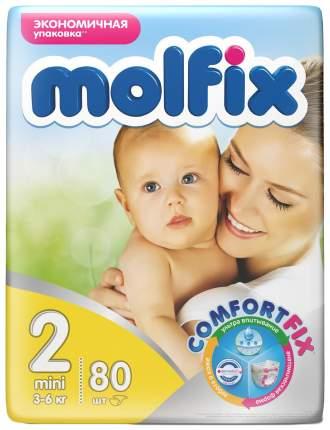 Подгузники для новорожденных Molfix 2 (3-6 кг), 80 шт.