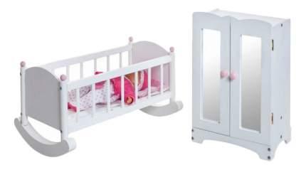 Набор кукольной мебели Paremo Шкаф с люлькой белый