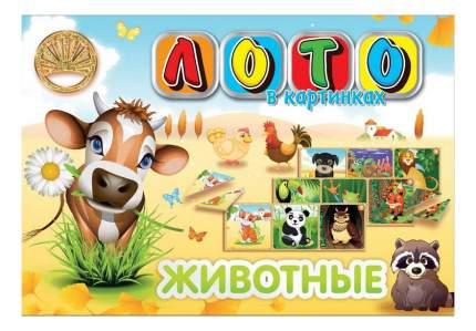 Семейная настольная игра Лапландия Лото в картинках Животные 43624