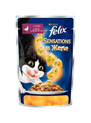 Влажный корм для кошек Felix Sensation, утка, 85г