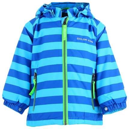 Куртка ColorKids 102037, размер 68-74 см, цвет полоска: темно-синий, голубой