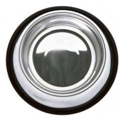 Одинарная миска для кошек и собак Papillon, сталь, серебристый, 1.8 л