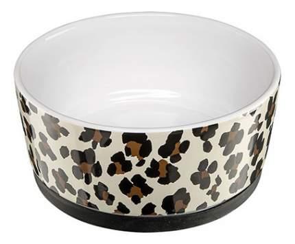 Одинарная миска для кошек и собак Ferplast, керамика, белый, черный, коричневый, 1.1 л