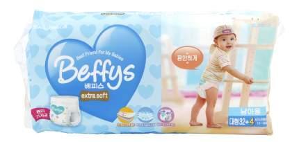 Подгузники Beffy's Extra Soft L для мальчиков (10-14 кr), 36 шт.
