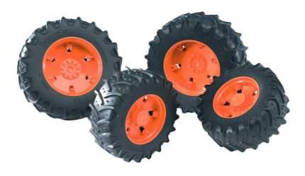 Шины Bruder Для системы сдвоенных колёс с оранжевыми дисками 4 шт.