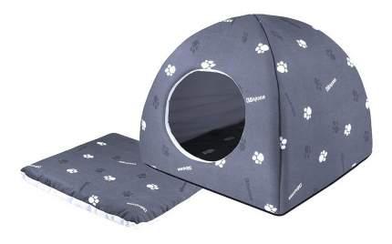 Домик для кошек Дарэлл 36х36х35 см серый
