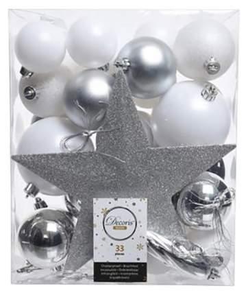 Набор елочных игрушек Kaemingk Зимний Дуэт 9023326 Белый, серебристый