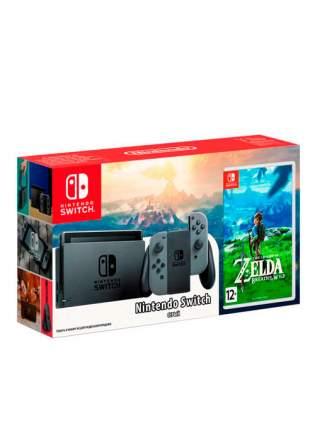 Портативная игровая консоль Nintendo Switch Gray + The Legend of Zelda: Breath of the Wild