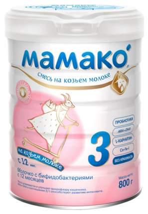 Смесь на козьем молоке Мамако 3 от года 800 г