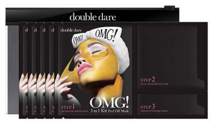 Маска для лица Double Dare OMG! Жидкое золото 5 шт