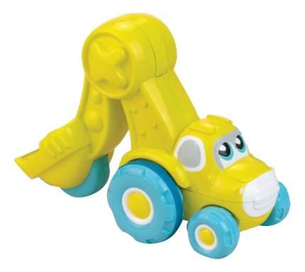 Экскаватор желтый Happy Kid Toy Нажми и поедет 3978