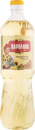 Масло подсолнечное Каролина рафинированное дезодорированное 900 мл