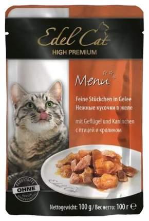 Влажный корм для кошек Edel Cat, домашняя птица, кролик, 100г