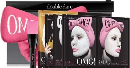 Тканевая маска Double Dare OMG! Набор SPA из 4 масок, кисти и ярко-розового банта