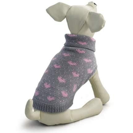 Свитер для собак Triol размер XXL унисекс, серый, розовый, длина спины 45см