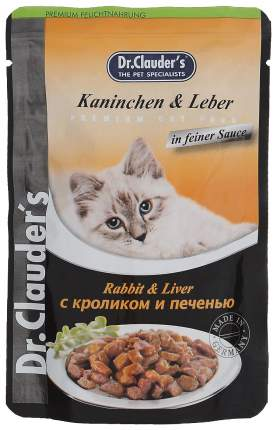 Влажный корм для кошек Dr.Clauder's, кролик, печень, 20шт, 100г