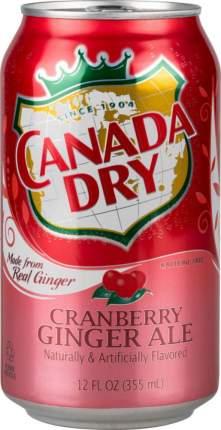 Напиток безалкогольный сильногазированный Canada Dry клюква жестяная банка 0.355 л