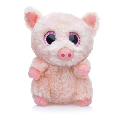 Мягкая игрушка Свинка светло-розовая, 15 см