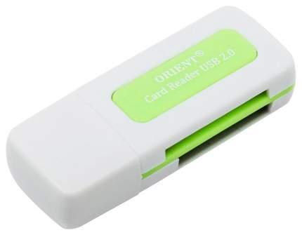 Картридер ORIENT CR-011 USB 2.0 Белый/Зеленый
