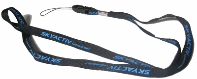 Шнурок с карабином для ключей Mazda Lanyard, Skyactive, Black, 830077540