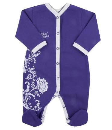 Комбинезон детский Lucky Child Нежность 15-1 фиолетовый р. 56-62