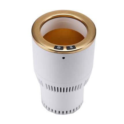 Термоподстаканник для подогрева и охлаждения напитков в автомобиле Paltier,бело-золотой