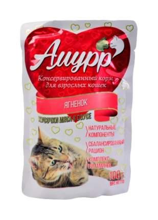 Влажный корм для кошек Амурр, ягненок в соусе, 24шт по 100г