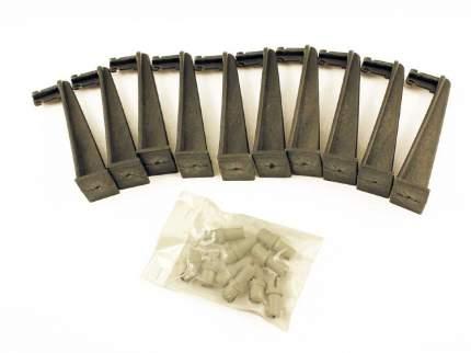 Набор жерлиц зимних Три Кита 10 шт. в сумке, катушка 60, прямая стойка