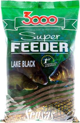 Прикормка Sensas 3000 Super Feeder Lake Black, 1 кг