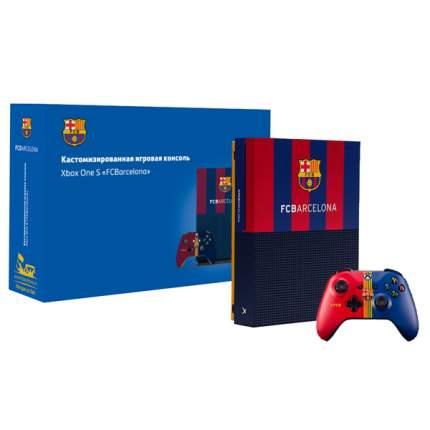"""Игровая приставка Microsoft Xbox One S 1Tb """"Барселона. Камп Ноу"""" (RB-XB09)"""