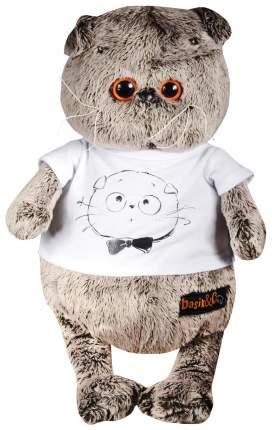 """Мягкая игрушка """"Басик в футболке с принтом """"Мордочка Басика"""", 19 см Басик и Ко"""